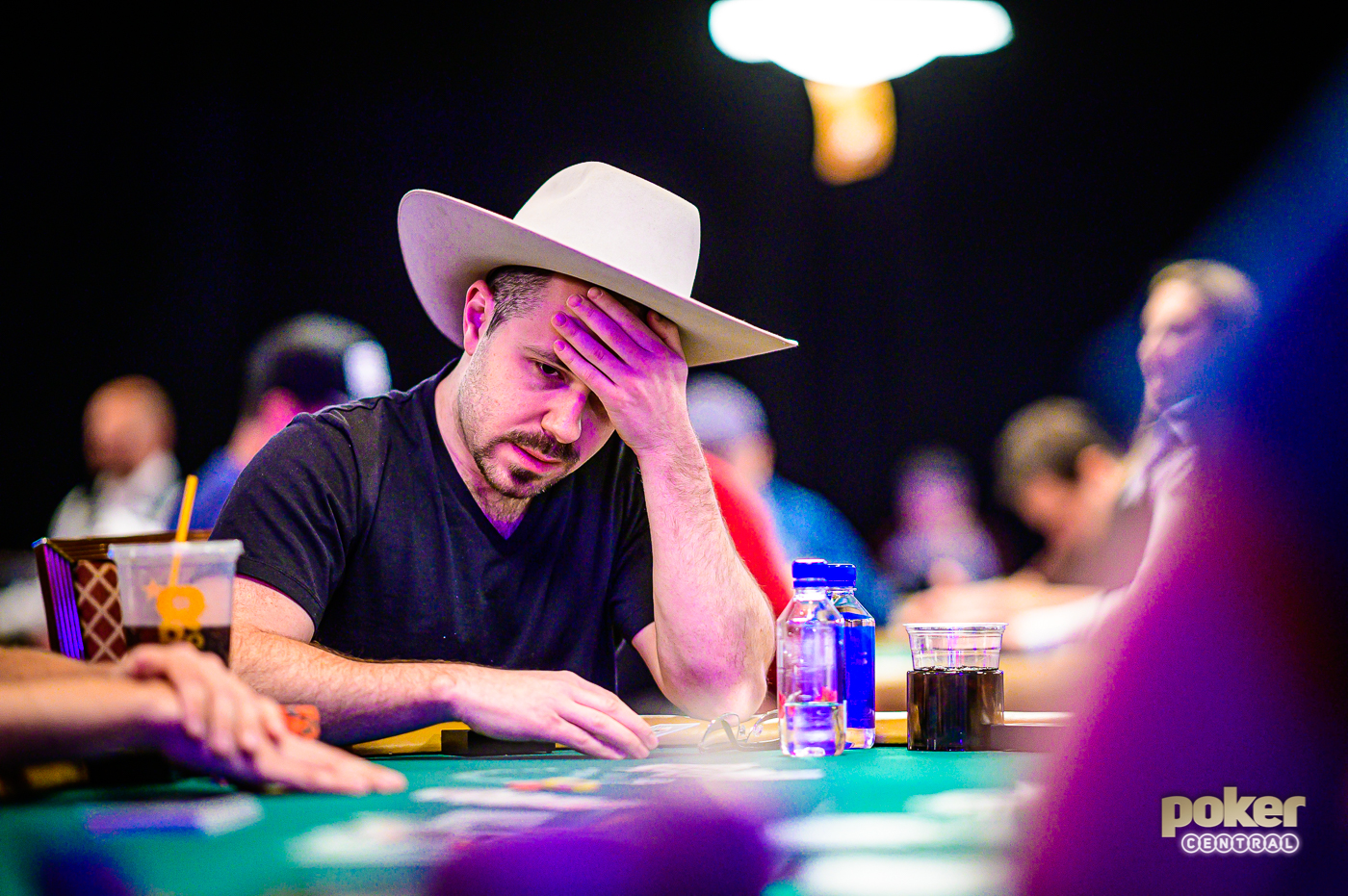 Dan Smith in action during the 2019 World Series of Poker.