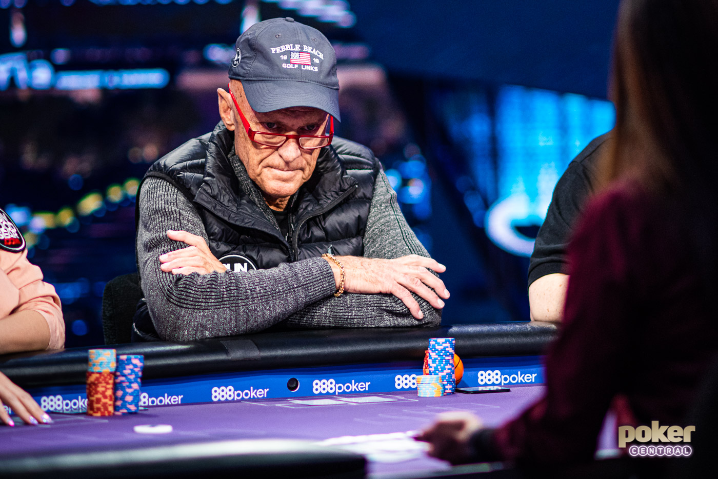 Clyde Lorance focused and locked in on Poker After Dark Showbound week.