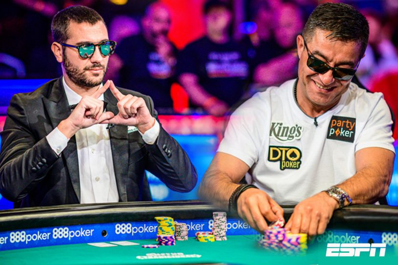 Dario Sammartino and Hossein Ensan battled at the 2019 WSOP Main Event Final Table.