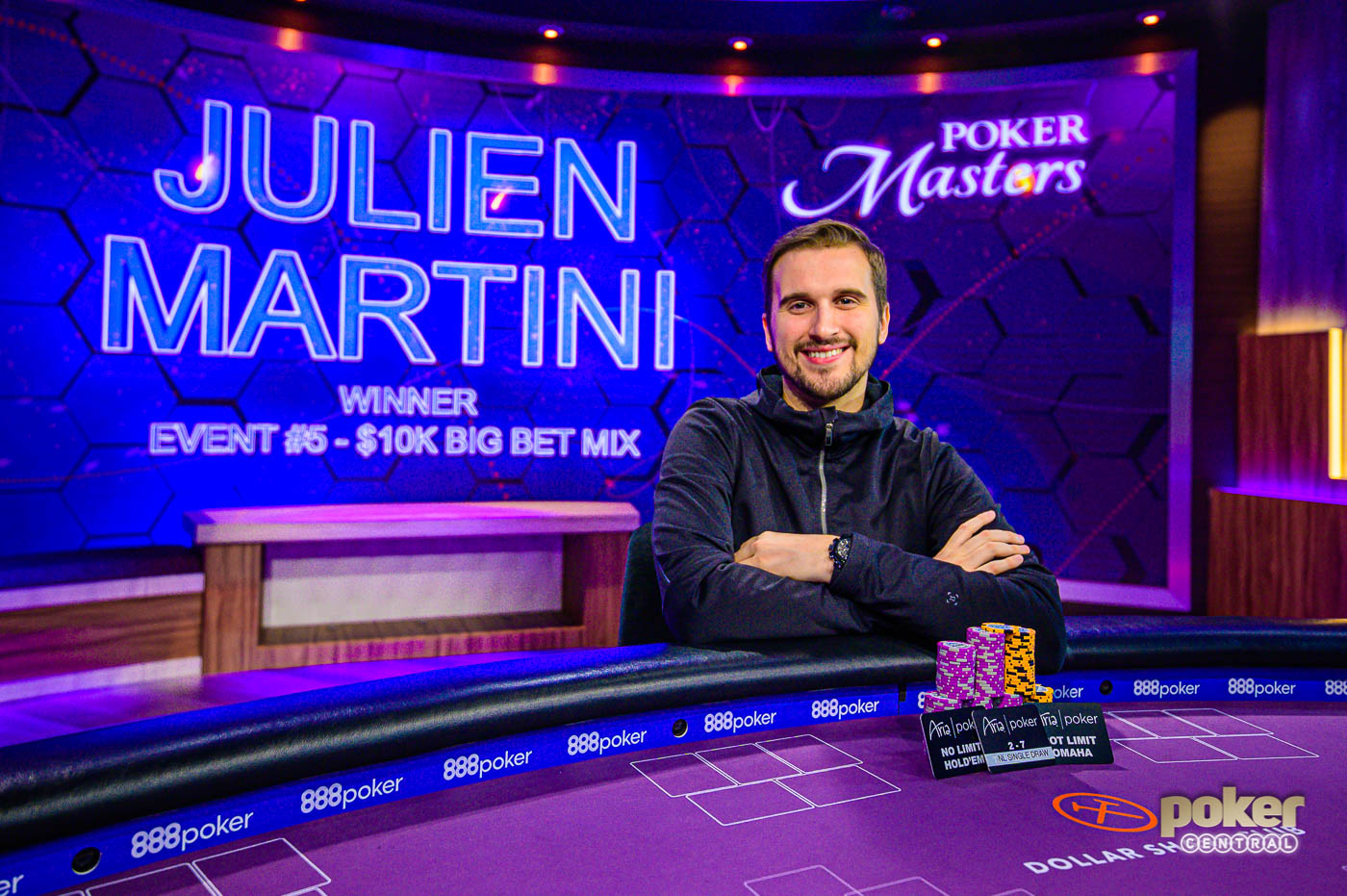 Julien Martini wins Event #5 $10,000 Big Bet Mix of the 2019 Poker Masters.