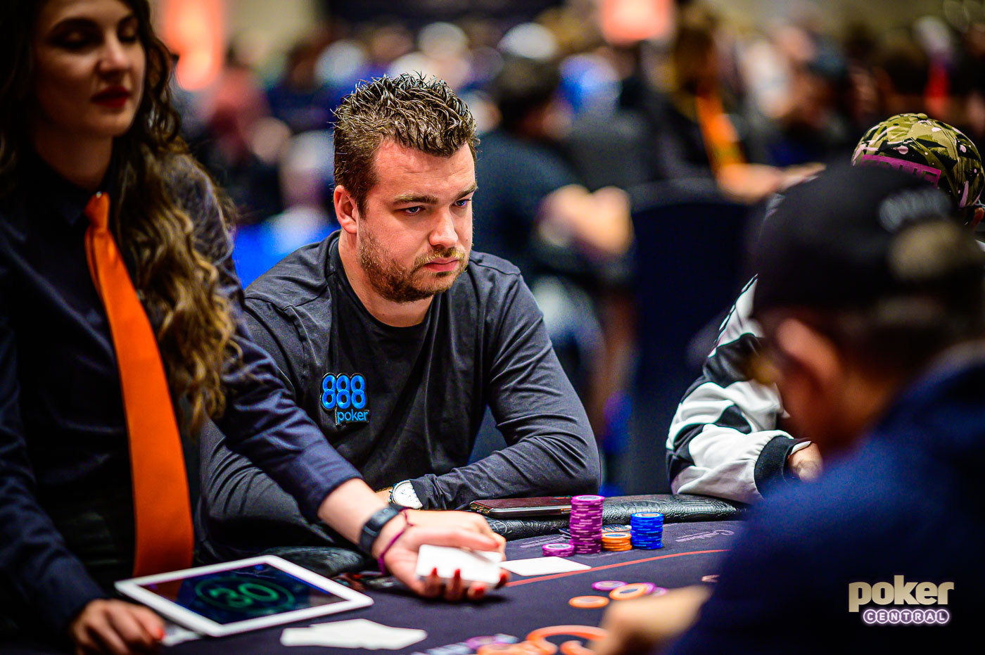 Chris Moorman during an earlier partypoker MILLIONS event