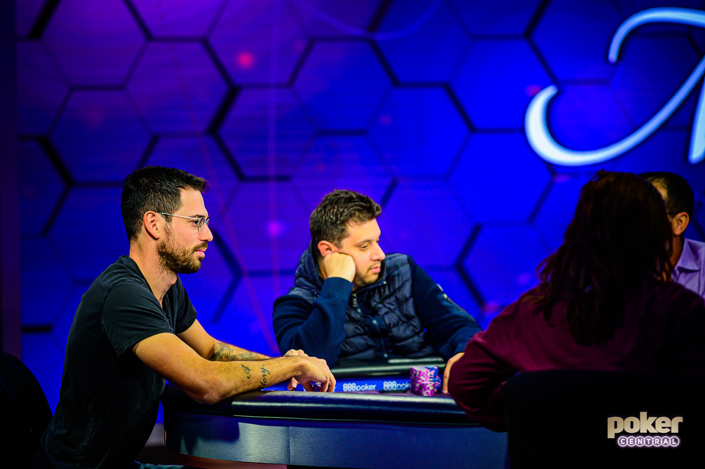 Nick Schulman and Jared Bleznick battle it out at the final table.