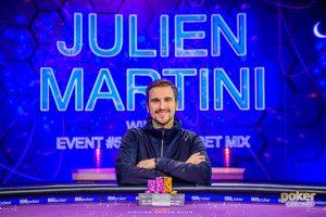 Poker Masters Event #5 $10,000 Big Bet Mix winner Julien Martini.