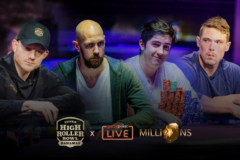 Jason Koon, Stephen Chidwick, Ali Imsirovic, and Alex Foxen are set to battle at Super High Roller Bowl London.