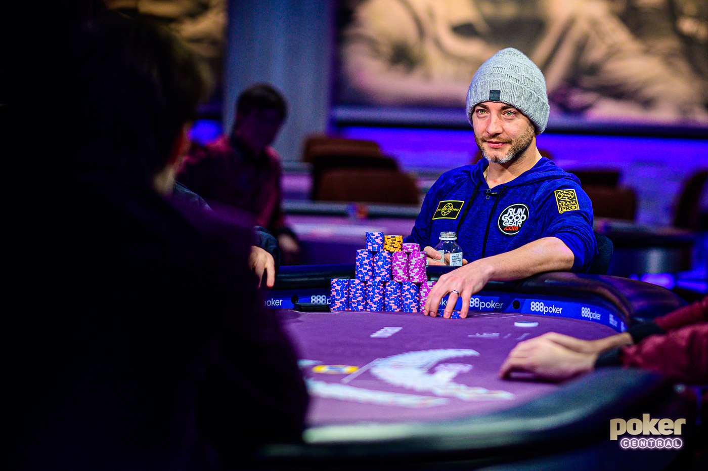 Chance Kornuth at the final table of the $25,000 No Limit Hold'em event at the 2019 Poker Masters.