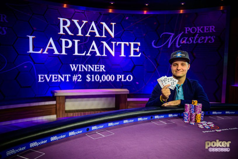 Ryan Laplante after winning Event #2 of the Poker Masters.