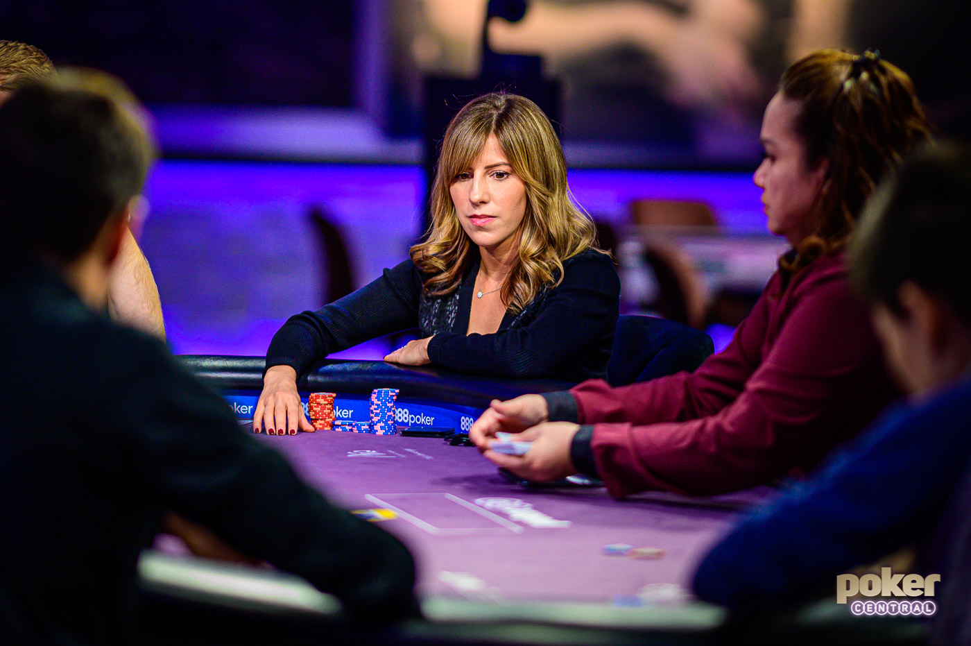 Kristen Bicknell in action during the 2019 Poker Masters.