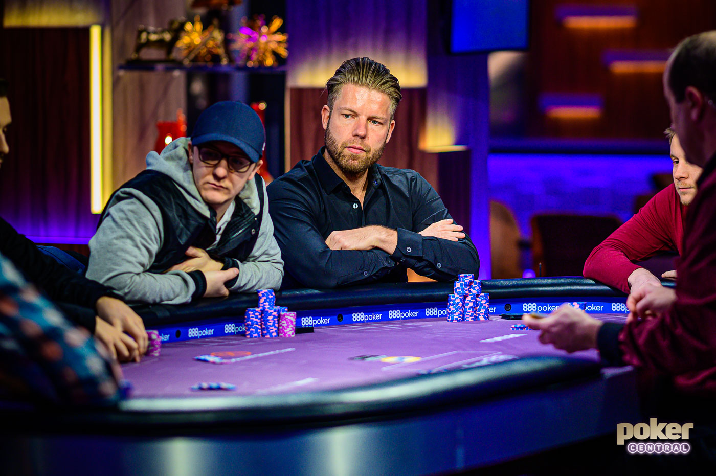 Kahle Burns and Jorryt van Hoof at the final table of Event #5 of the Poker Masters.