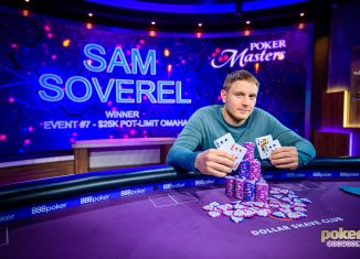 Sam Soverel wins Event #7 of the 2019 Poker Masters $25,000 Pot Limit Omaha for $340,000.