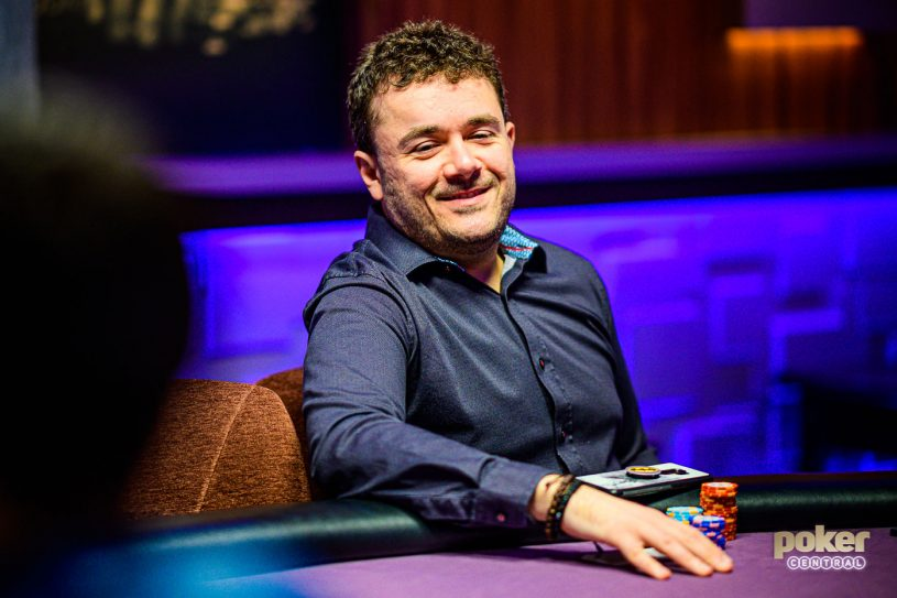 Anthony Zinno in action during the Poker Masters.