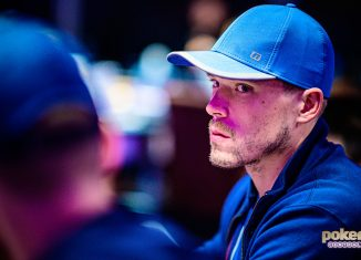 Alex Foxen in action during the 2019 Poker Masters