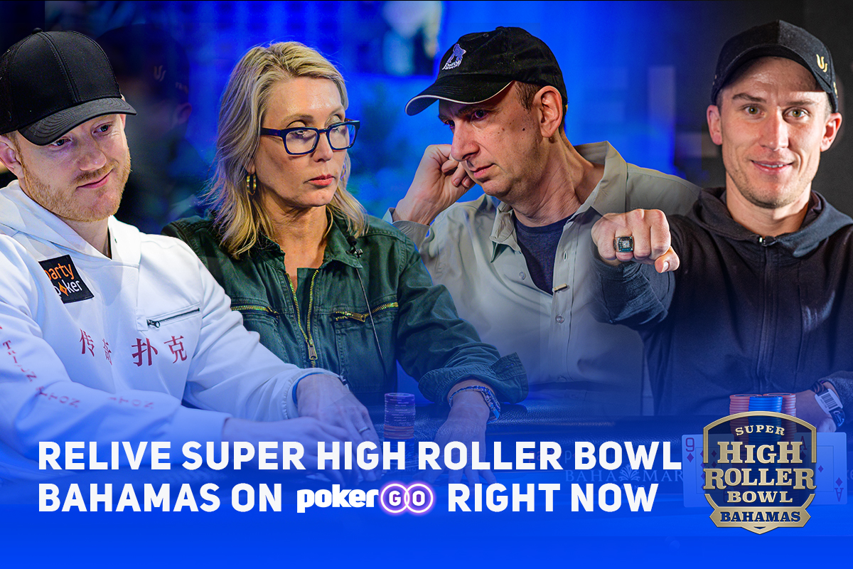 Relive Super High Roller Bowl Bahamas on PokerGO right now.