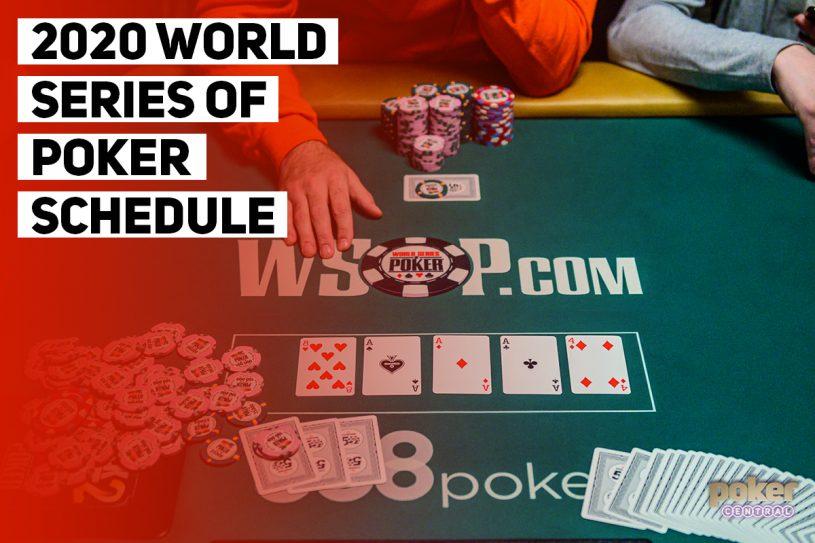 2020 WSOP Schedule