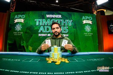 Timothy Adams Wins Australian Poker Open Event #3 For $416,500