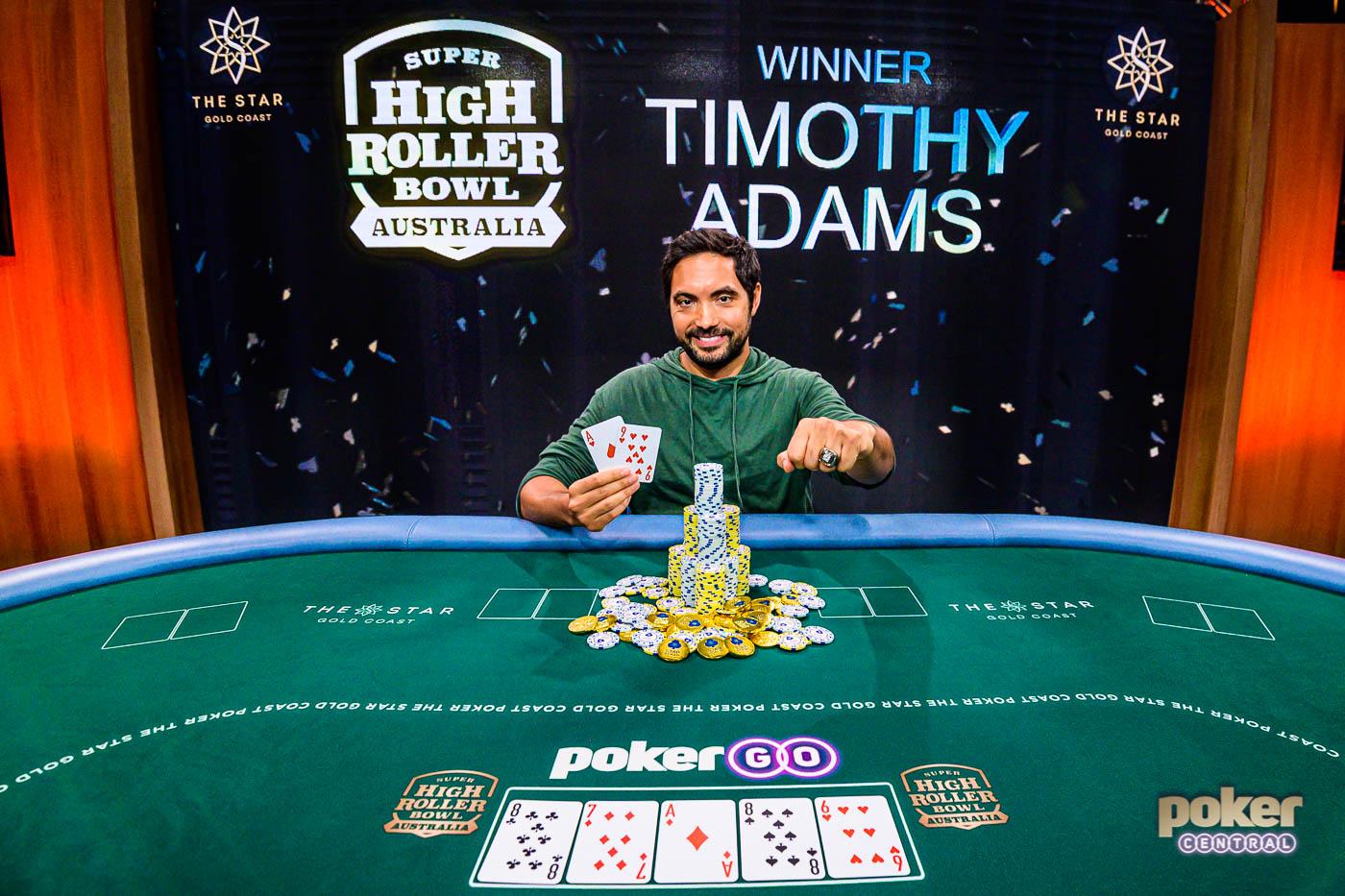 Timothy Adams Wins Inaugural Super High Roller Bowl Australia for  AU$2,160,000 | Poker Central