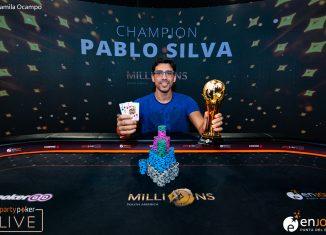 partypoker MILLIONS South America Main Event winner Pablo Silva