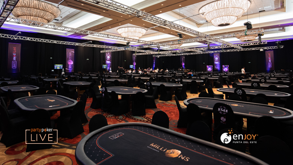 partypoker's maginificent ballroom at Enjoy Punta del Este