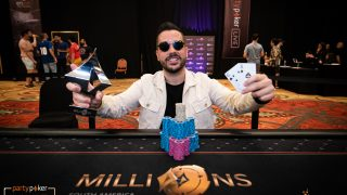 Farid Jattin wins the 2020 partypoker MILLIONS South America $10,300 High Roller Finale for $200,000