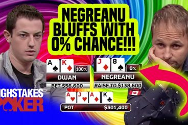 Daniel Negreanu Tries Bluffing Tom Dwan with 0% Equity - What Could Go Wrong?