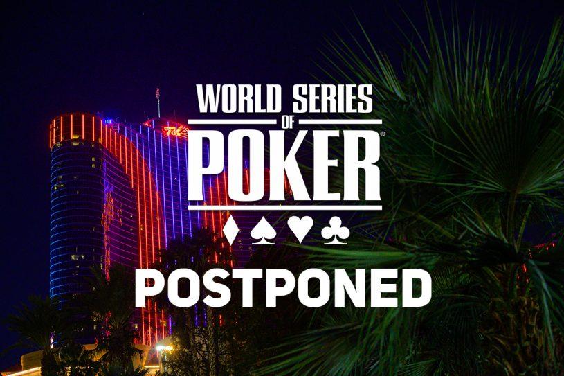 2020 WSOP Postponed