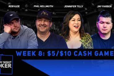 Rewatch Week 8 of Friday Night Poker on YouTube and Facebook