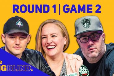 Rewatch Round 1 - Game 2 of The Big Blind on YouTube and Facebook