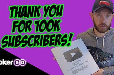 PokerGO Celebrates 100,000 YouTube Subscribers!