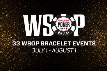 WSOP Online Starts July 1 with 33 Bracelet Events