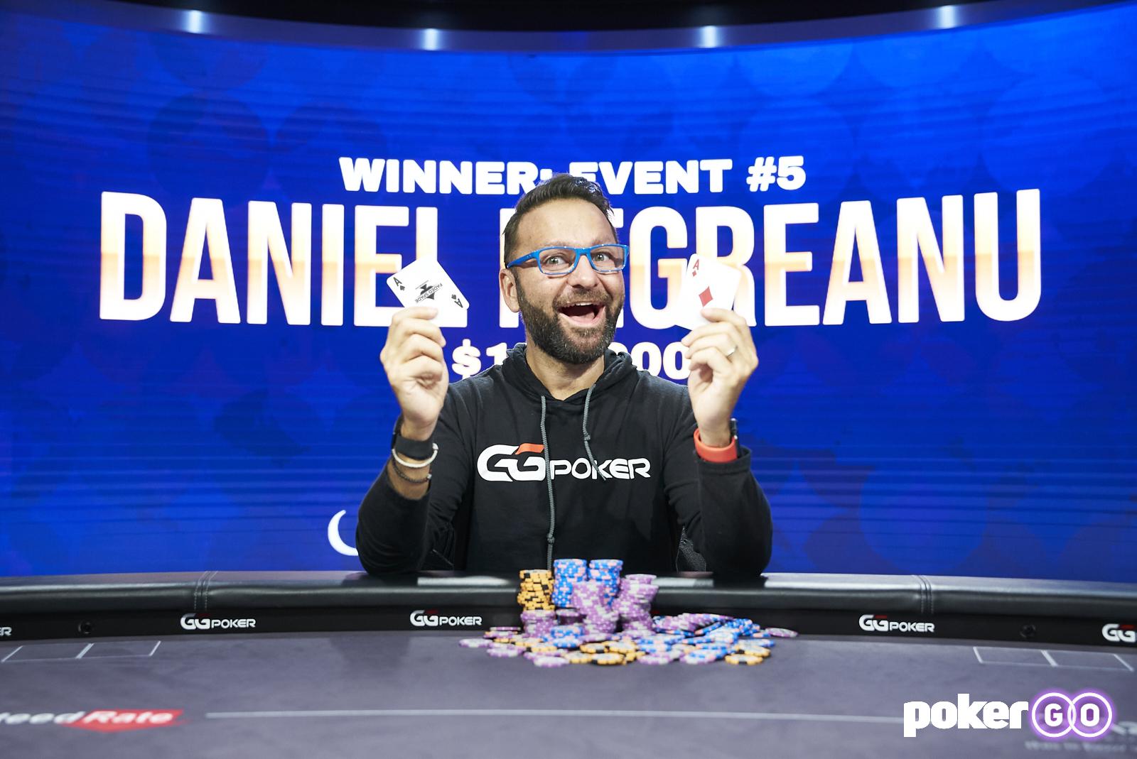 Poker Masters 2021 - Daniel Negreanu wint event #5