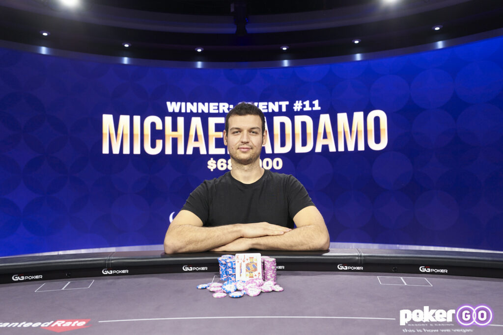 Michael Addamo Wins Event #11: $50,000 NL Hold'em at the 2021 Poker Masters for $680,000