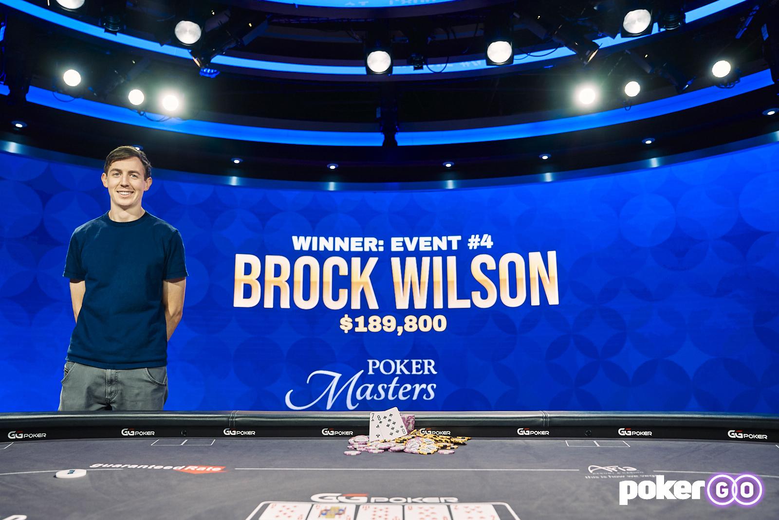 Poker Masters 2021 - Brock Wilson