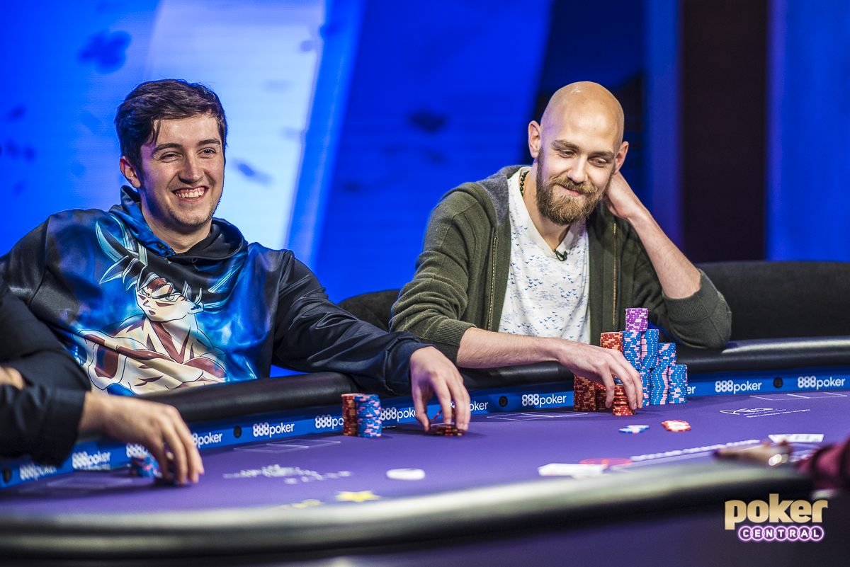 Side by side in the $100k: Ali Imsirovic and one of his favorite and most respected players, U.S. Poker Open champion Stephen Chidwick.