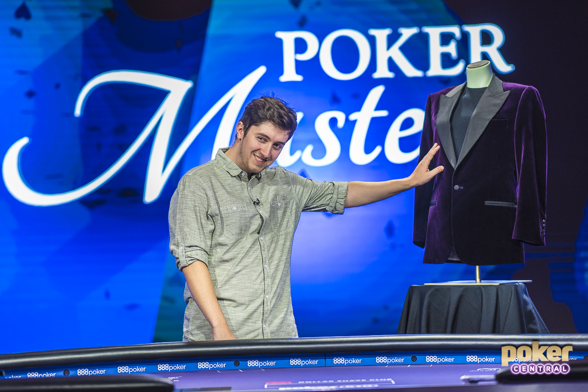 Ali Imsirovic in disbelief after winning Purple Jacket at the 2018 Poker Masters.