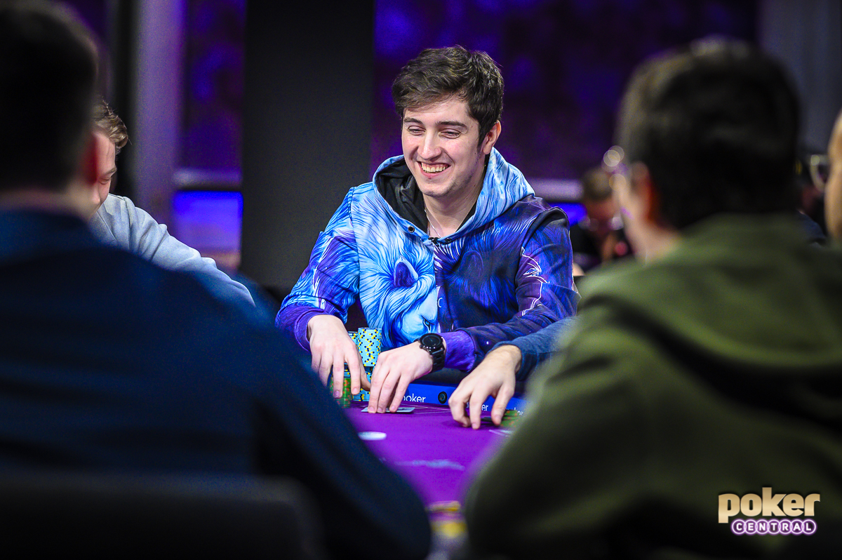 Ali Imsirovic was all smiles during Day 2 of Super High Roller Bowl V.