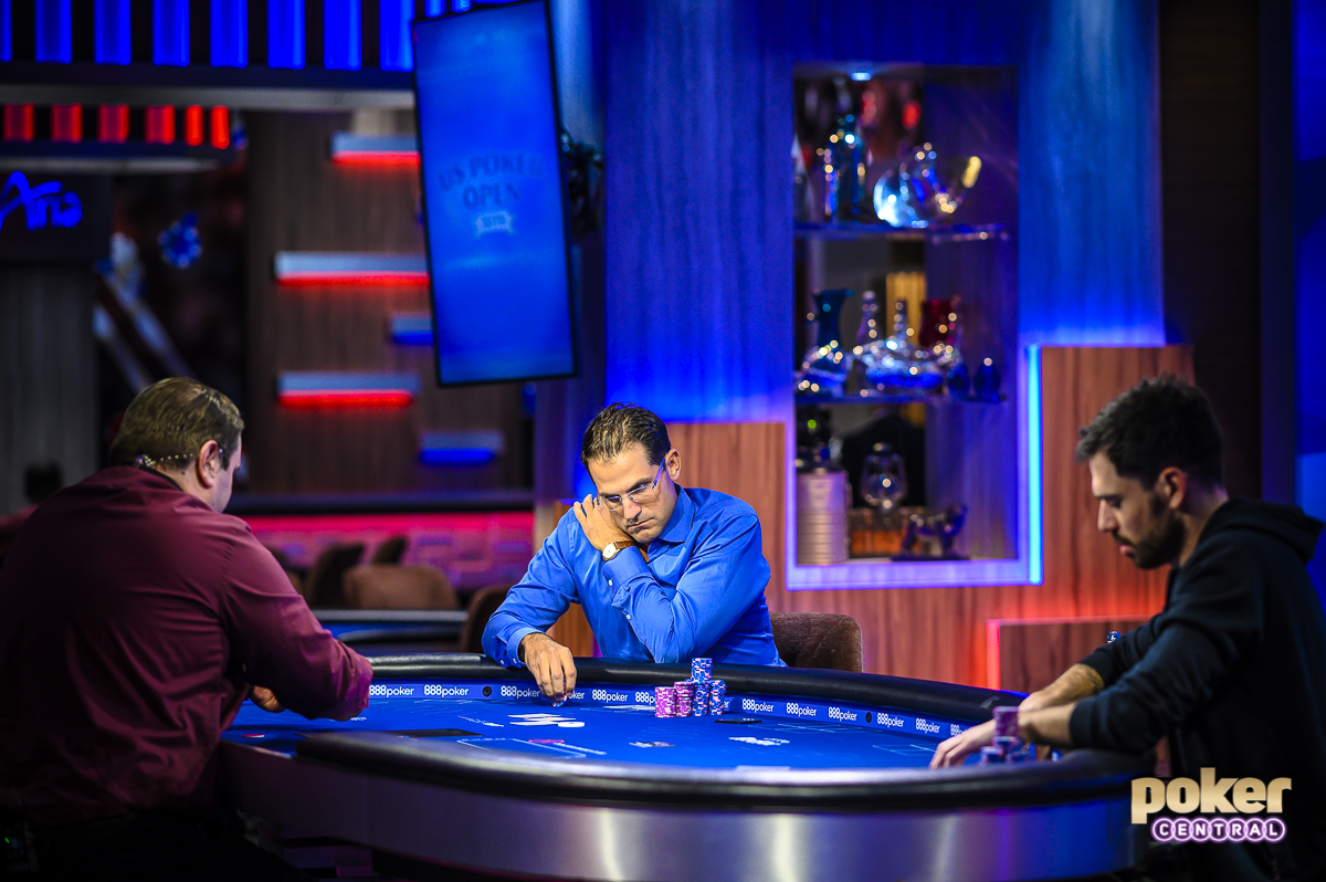 Brandon Adams and Nick Schulman heads up for the U.S. Poker Open Mixed Game Championship.