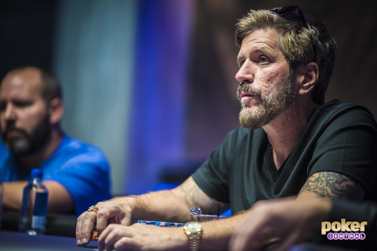 This is one of my favorite pictures of the week, featuring Brian Green. Green is no stranger to the high roller scene, as the Texas Native has made his presence known over the last few years with over $3,000,000 in live earnings. Green logged a solid second place finish in the opening event of this years Poker Masters, as he finished second on the $10K NLH event for $138,000.