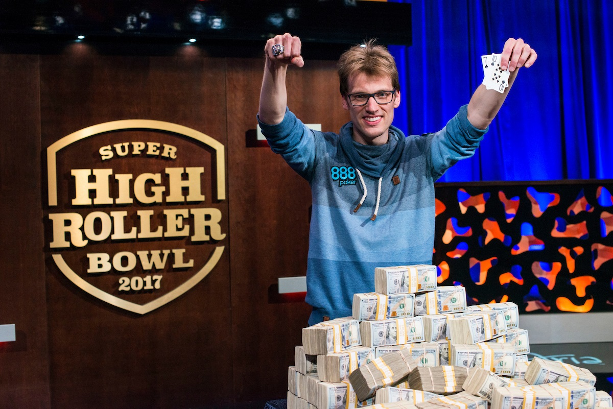 Christoph Vogelsang wins Super High Roller Bowl 2017 for $6,000,000.