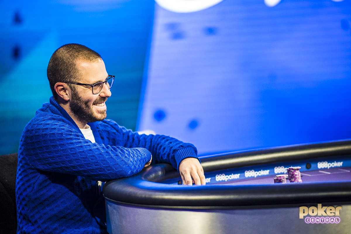 After a crazy three-handed battle, Dan Smith and David Peters came into heads up play with nearly identical stacks. Smith has already had quite the year for himself, as he's coming off his best career score, where he finished 3rd in the $1,000,000 Big One for One Drop for $4,000,000. The two would exchange the chip lead a few times before Smith eventually found himself all in, in great shape to double as he held ace-seven to the king-seven of Peters. Unfortunately for Smith, Peters would turn a king and eliminate Smith in 2nd, good for $700,000.