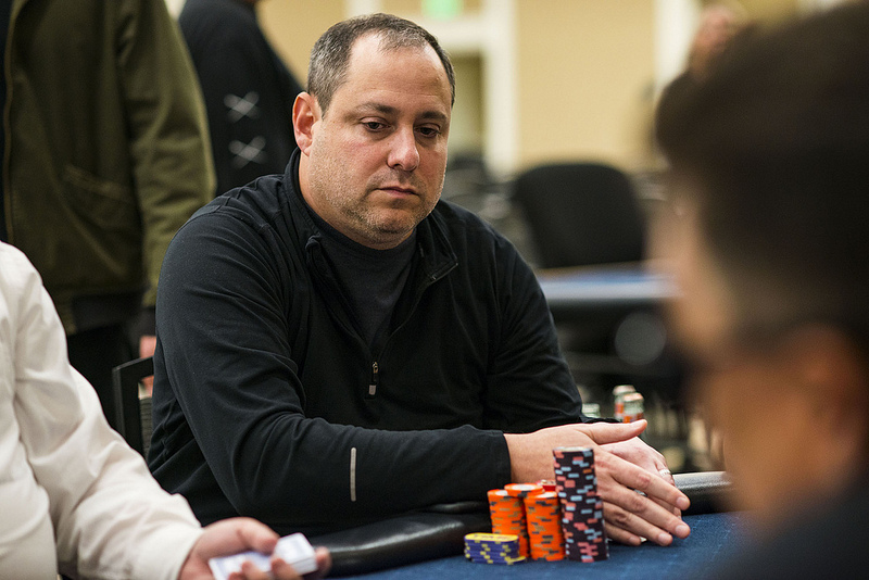 David Baker continues to head up the L.A. Poker Classic Main Event as just 12 hopefuls remain. (Photo courtesy of the WPT)