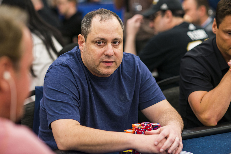 David Baker in strong contention for his first WPT title at the L.A. Poker Classic. (Photo courtesy of the WPT.)