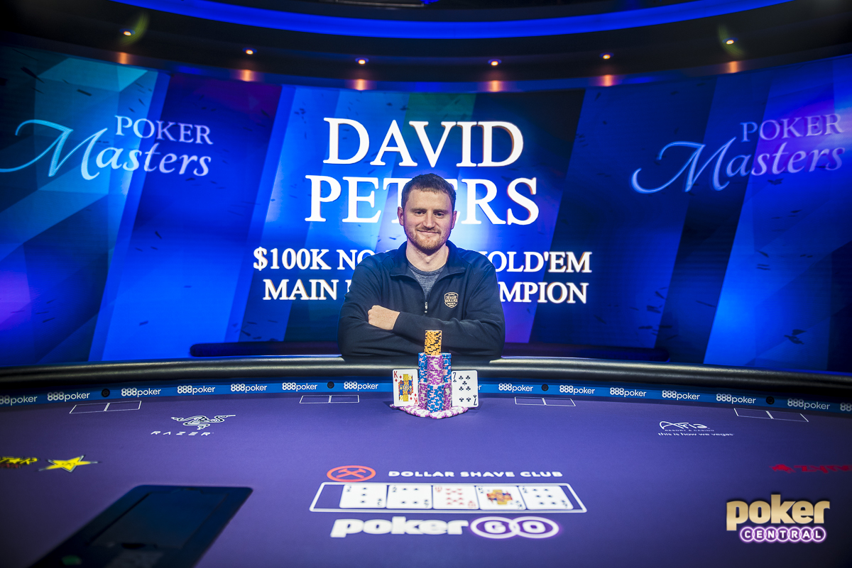 A legend in the making: David Peters finished out the Poker Masters strong, taking home the $100,000 Main Event title after defeating Dan Smith heads-up. Peters takes home $1,150,000, adding to his already incredible $24,000,000 in career earnings putting him 10th on poker's all-time money list.