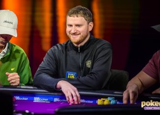 David Peters is all smiles during the 2018 Super High Roller Bowl.