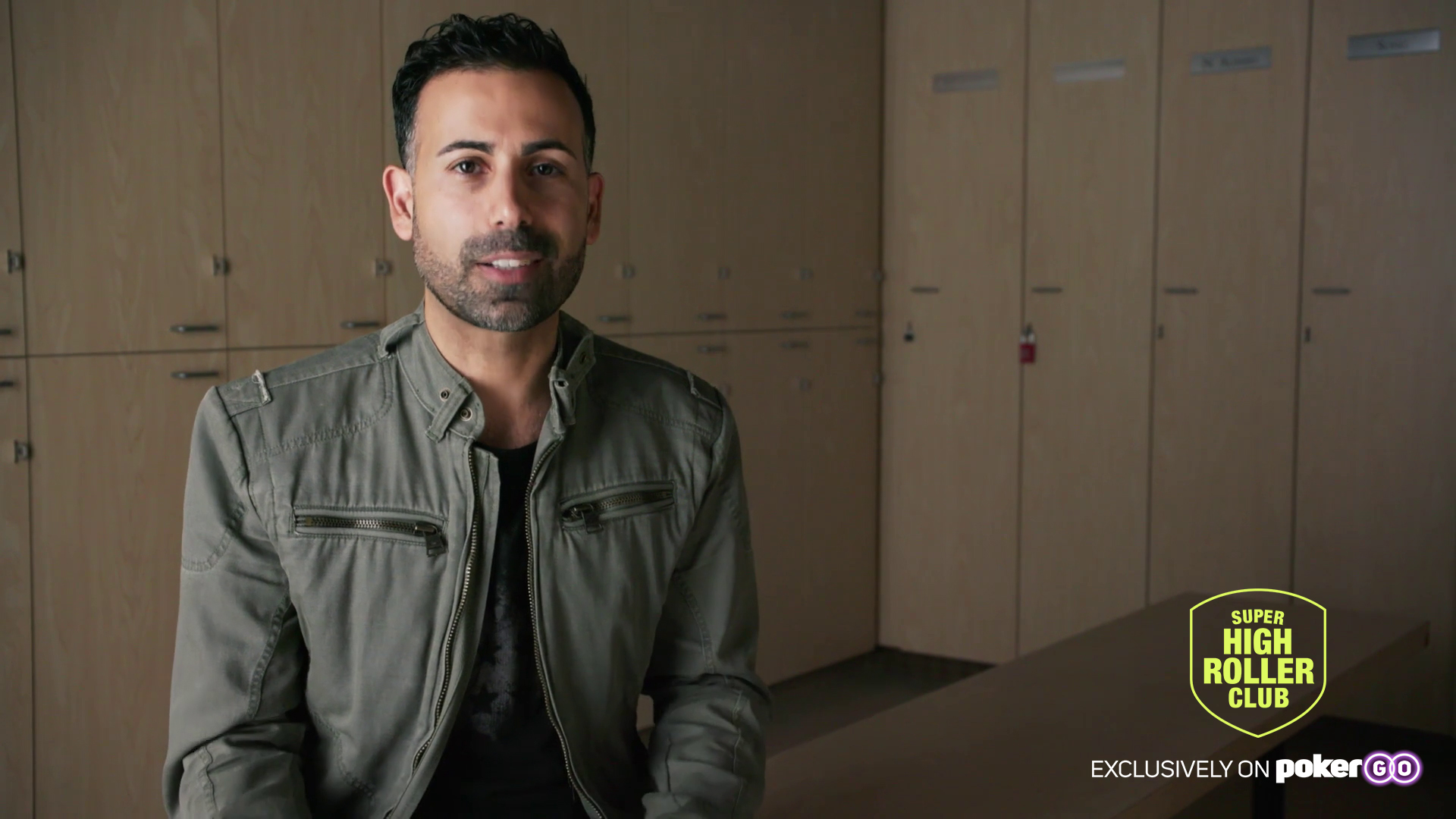 Ali Nejad on the set for the Super High Roller Club - available exclusively on PokerGO.