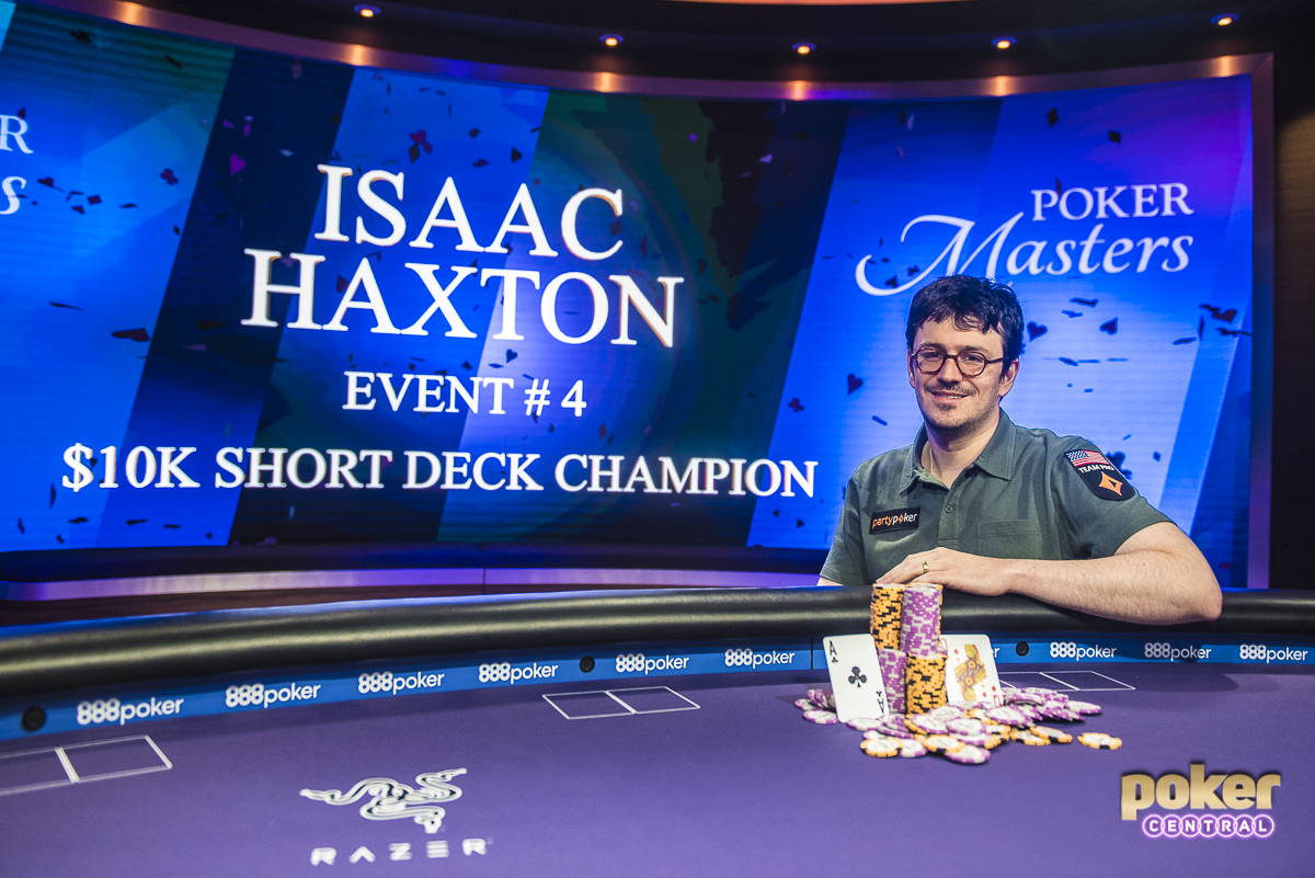 Playing Short Deck Poker for the very first time, Isaac Haxton took down the 2018 Poker Masters $10,000 Short Deck tournament. Haxton collected $176,000 for just the fifth outright win of his tournament career.