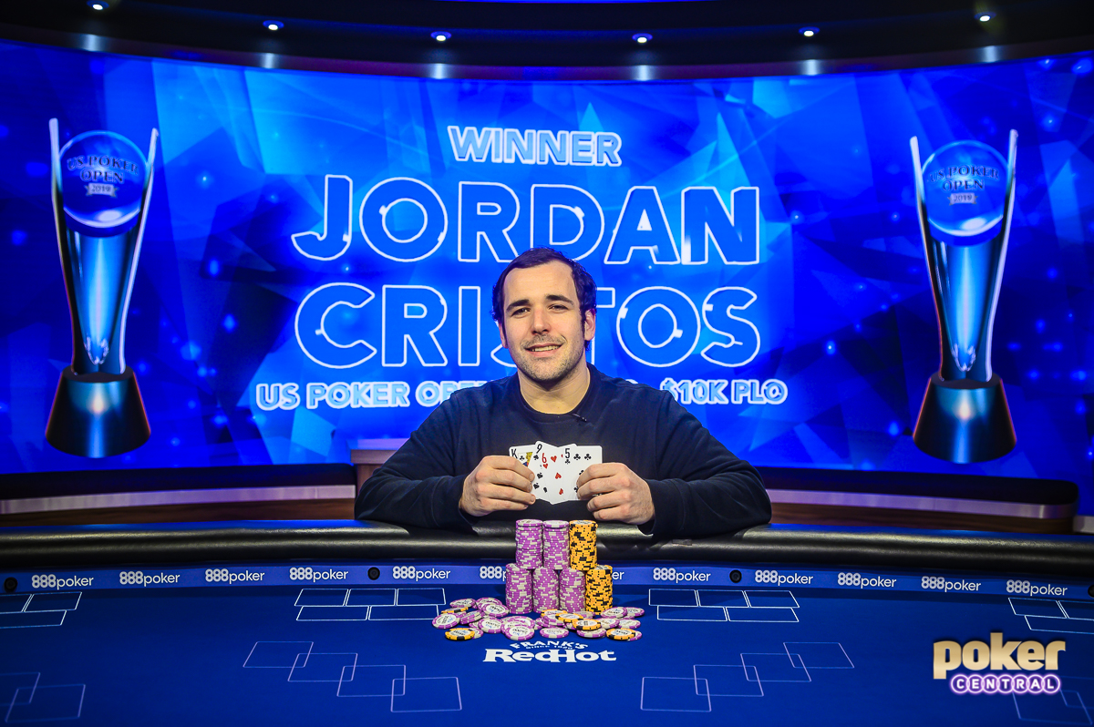 Jordan Cristos, winner of the Event #2 at the 2019 U.S. Poker Open.