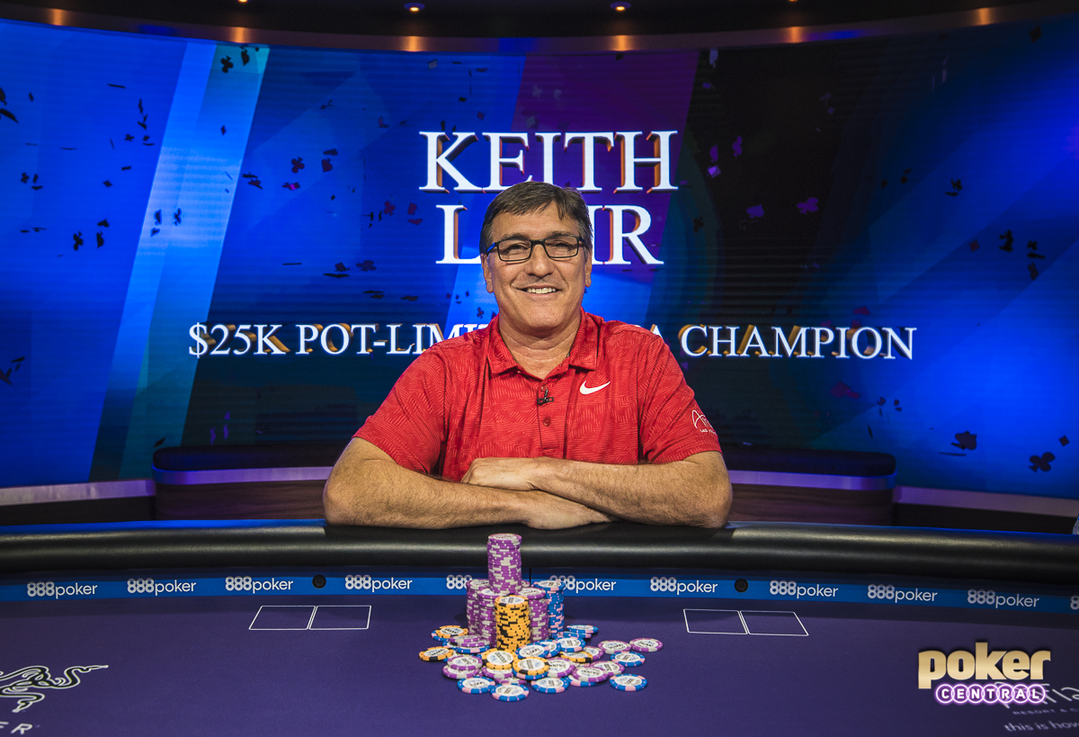 Keith Lehr's Victorious Smile: With 2 WSOP Bracelets, a circuit ring, and over $3.2 Million in career earnings, it's not a surprise to see Keith Lehr in the winner's circle once again. Yesterday, Lehr added another title to the resume as he took down the $25k PLO event at the 2018 Poker Masters. Lehr came into the day with the second shortest stack but managed to use his experience to navigate through a very tough final table. Lehr took home $330,000 for his victory.