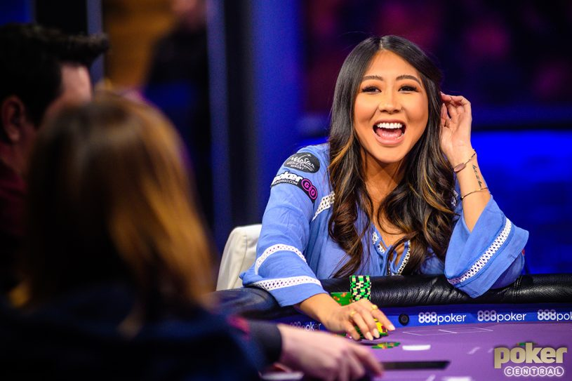 Maria Ho during a recent Poker After Dark game.