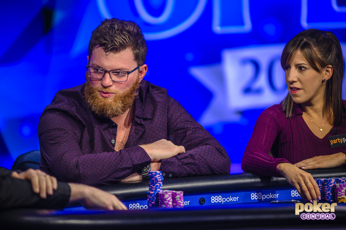 Nick Petrangelo and Kristen Bicknell at the 2019 U.S. Poker Open Event #5 final table.