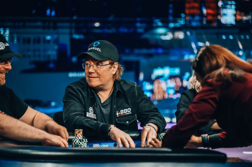 "Jamie Gold in action during the first night of ""Golden Nights"" on Poker After Dark in the PokerGO Studio."