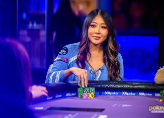 Maria Ho in action during Poker After Dark in PokerGO.